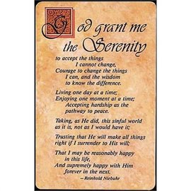 Pocket Card - Full Serenity Prayer