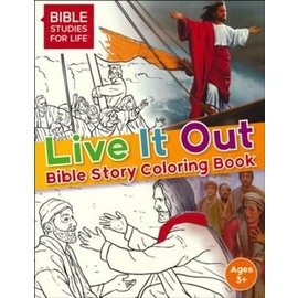 Live It Out Bible Story Coloring Book, Hardcover