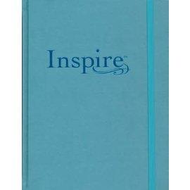 NLT Inspire Large Print Journaling Bible, Tranquil Blue
