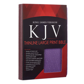 KJV Large Print Bible, Brown/Purple Faux Leather