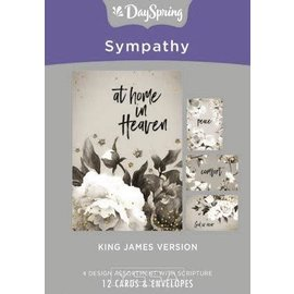 Boxed Cards - Sympathy, Black & White