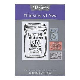Boxed Cards - Thinking of You, Jars