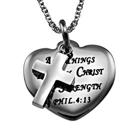 Necklace - Sweetheart: Christ My Strength