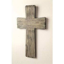 "Wall Cross - Rugged Wood (10""x17"")"