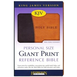 KJV Giant Print Reference Bible, Brown/Tan Flexisoft