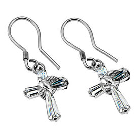 Earrings - Prism Dove Cross