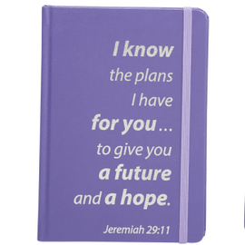 Journal - Jeremiah 29:11, Purple