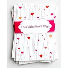 Note Card - Valentine, Whimsical Design (Pack of 10)