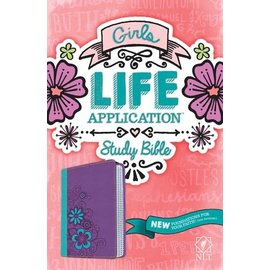 NLT Girls Life Application Study Bible, Green/Purple TuTone