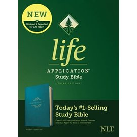 NLT Life Application Study Bible 3, Teal Blue LeatherLike