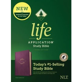 NLT Life Application Study Bible 3, Purple LeatherLike, Indexed