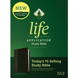 NLT Life Application Study Bible 3, Black/Onyx LeatherLike