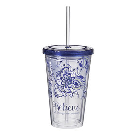 Plastic Tumbler - Believe All Things are Possible