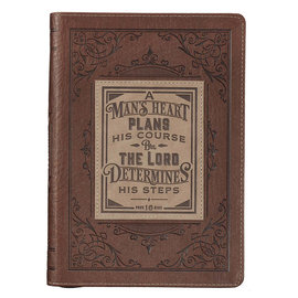Journal - A Man's Heart, Leather Zippered
