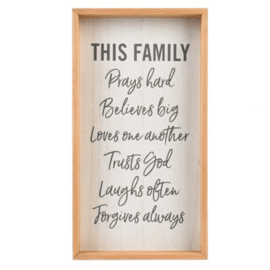 Wall Art - This Family Prays, Framed
