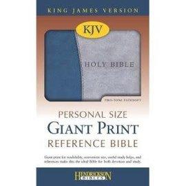 KJV Giant Print Reference Bible, Blue/Gray Flexisoft