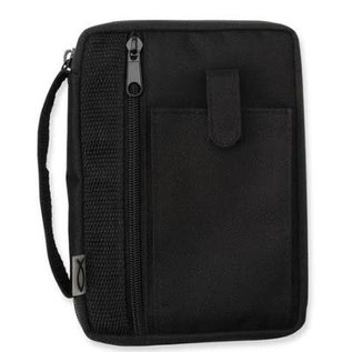 Bible Cover - Black Canvas, Extra Small (Compact)