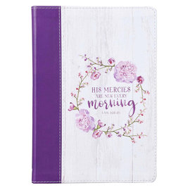 Journal - His Mercies are New, Slimline Faux Leather