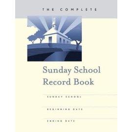 Complete Sunday School Record Book