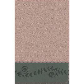 KJV Study Bible For Girls, Pink Pearl/Gray-Vine Design LeatherTouch