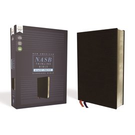 NASB Giant Print Thinline Bible, Black Bonded Leather