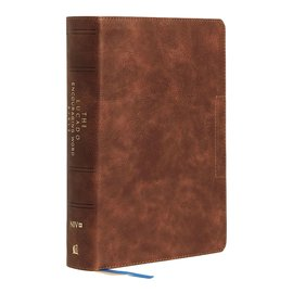 NIV Lucado Encouraging Word Bible, Brown Leathersoft, Indexed