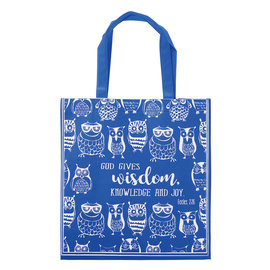 Tote Bag - God Gives Wisdom, Blue