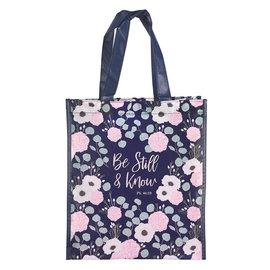 Tote Bag - Be Still and Know, Flowers