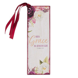 Bookmark - His Grace is Enough, Faux Leather