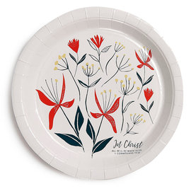 """Paper Plates - In Christ (9"""", pack of 8)"""