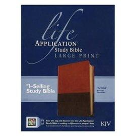 KJV Large Print Life Application Study Bible, Brown/Tan LeatherLike