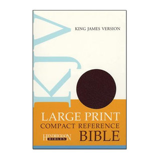 KJV Large Print Compact Reference Bible, Burgundy Bonded Leather