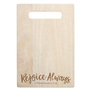 Cutting Board - Rejoice Always, Mango Wood