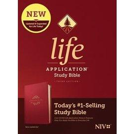 NIV Life Application Study Bible 3, Berry LeatherLike