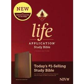 NIV Life Application Study Bible 3, Brown/Tan LeatherLike