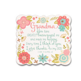 Magnet - Grandma (2 Corinthians 7:4 & Philippians 1:3)