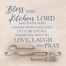 "Trivet - Bless this Kitchen (7"" Square)"