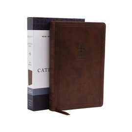 NRSV Catholic Gift Bible, Brown Leathersoft