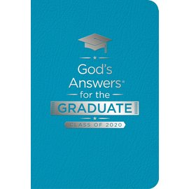 God's Answers for the Graduate, Class of 2020, NKJV Teal Leathersoft