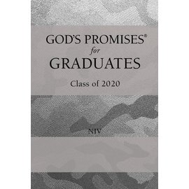 God's Promises for Graduates, Class of 2020, NIV Silver Camo Leathersoft over Hardcover