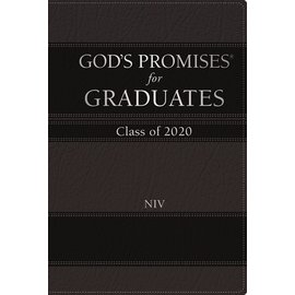 God's Promises for Graduates, Class of 2020, NIV Black Leathersoft over Hardcover