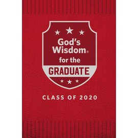 God's Wisdom for the Graduate, Class of 2020, Red Leathersoft