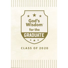 God's Wisdom for the Graduate, Class of 2020, White Leathersoft