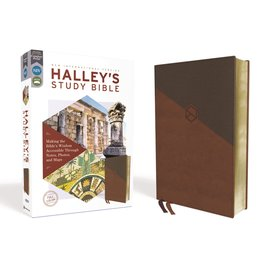 NIV Halley's Study Bible, Brown Leathersoft