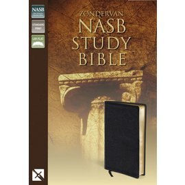 NASB Zondervan Study Bible, Black Bonded Leather