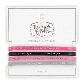 Silicone Bracelet Set: Trust, Faith, Pray, Believe