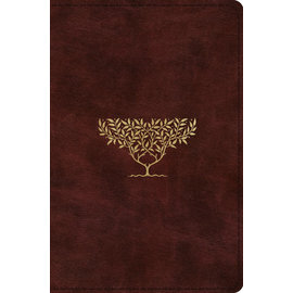 ESV Compact Bible, Burgundy/Olive Tree Design TruTone