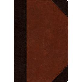 ESV Journaling New Testament: Inductive Edition, Brown/Cordovan Portfolio Design TruTone