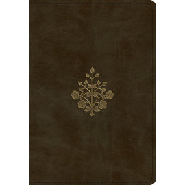 ESV Large Print Compact Bible, Olive Branch Design TruTone