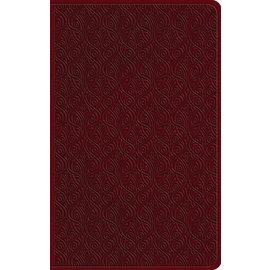 ESV Large Print Value Thinline Bible, Ruby Vine Design TruTone